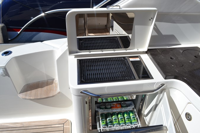 Cockpit Summer Kitchen with Grill and Refrigerator 2015 SEA RAY 410 Sundancer Motor Yacht 1685742
