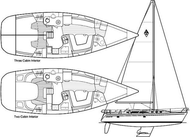 Two Cabin Layout 2005 CATALINA Model 400 Cruising Sailboat 1747553