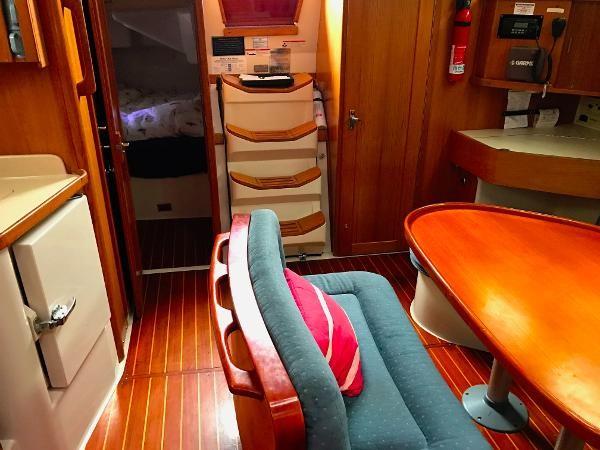 Salon looking aft 1997 CATALINA 42 MkII Cruising Sailboat 1748777