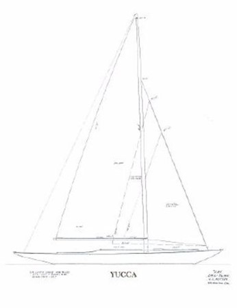 Lines Drawing 1937 Potter Design 8 Meter Classic Yacht 1756750