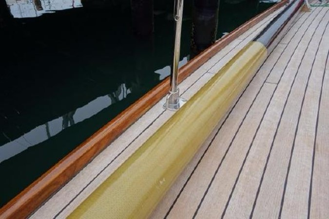 Carbon Pole w Kevlar Chafe Guard 1937 Potter Design 8 Meter Classic Yacht 1756773