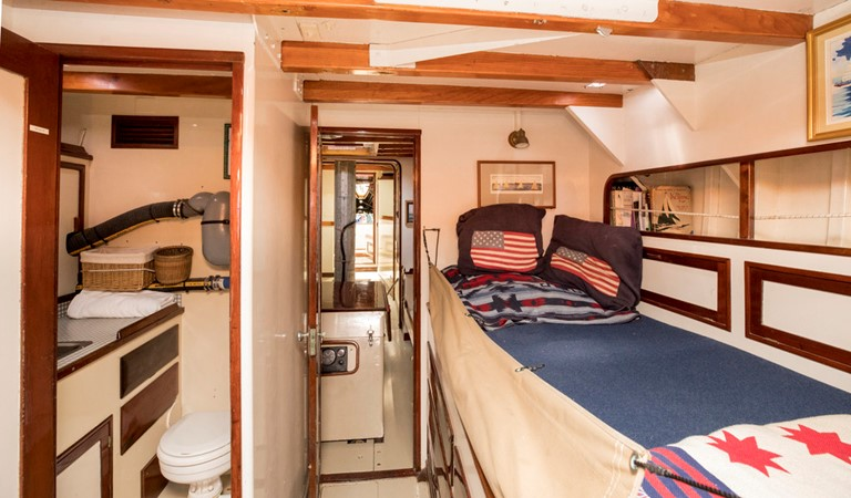 Quarterberth area, with a view of the enclosed head and forward quarterberth 1964 LUDERS 12 Metre Racing Sailboat 1806637