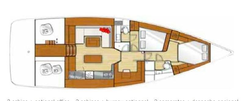 Lay Out. 2015 BENETEAU Sense 50 Cruising Sailboat 1848513