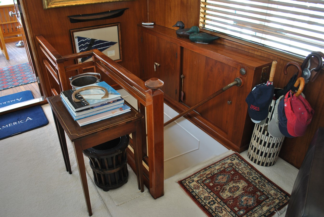 Stairway to Cabins  1965 TRUMPY  Motor Yacht 1870577