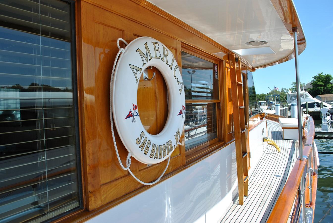 Starboard Side Deck  1965 TRUMPY  Motor Yacht 1870599