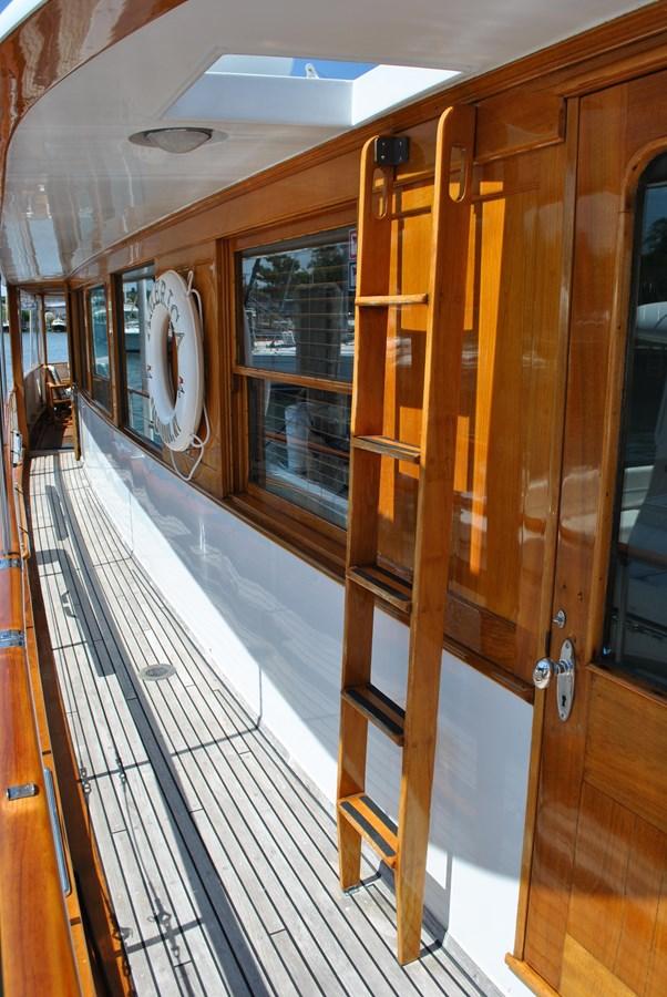 Starboard Side Deck  1965 TRUMPY  Motor Yacht 1870600
