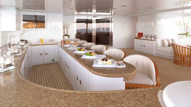 14 aft deck bar set for breakfast 2003 CODECASA Full displacement motor yacht Motor Yacht 1872939
