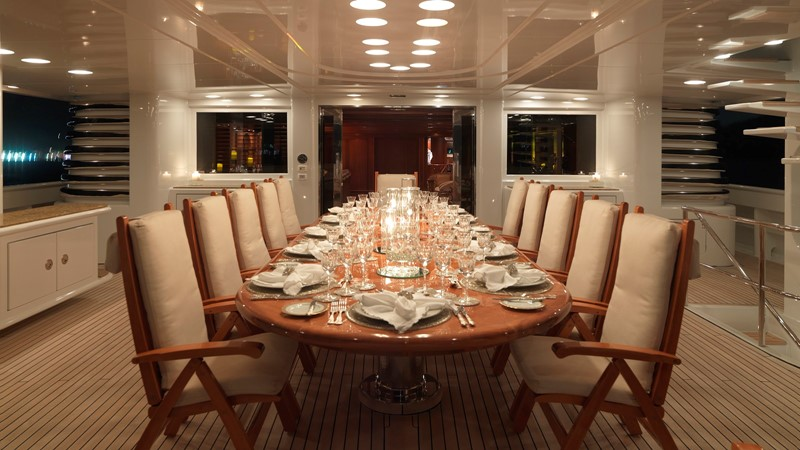 37 Upper deck dining  evening 2003 CODECASA Full displacement motor yacht Motor Yacht 1872944