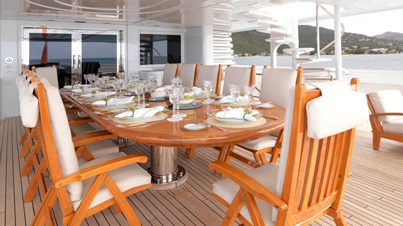 35 Upper deck dining 2003 CODECASA Full displacement motor yacht Motor Yacht 1872957