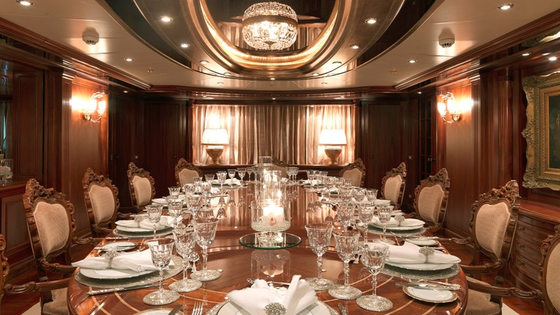 17 Main deck formal dining 2003 CODECASA Full displacement motor yacht Motor Yacht 1872965