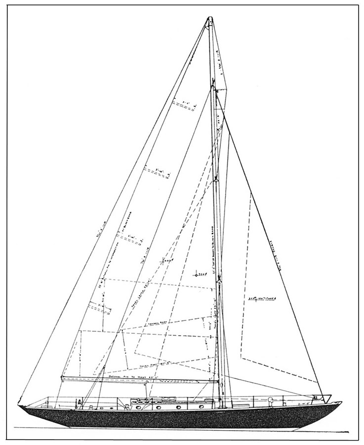 Sail Plan 1947 NEVINS / SPARKMAN & STEPHENS S&S Sloop Classic Yacht 1883754