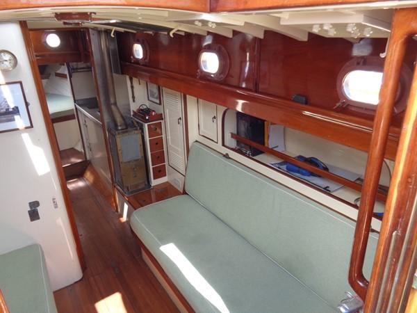 Main Salon Stb 1947 NEVINS / SPARKMAN & STEPHENS S&S Sloop Classic Yacht 1883745