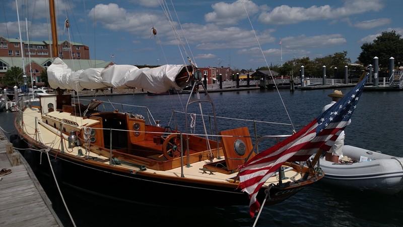 Quarter View 1947 NEVINS / SPARKMAN & STEPHENS S&S Sloop Classic Yacht 1883749
