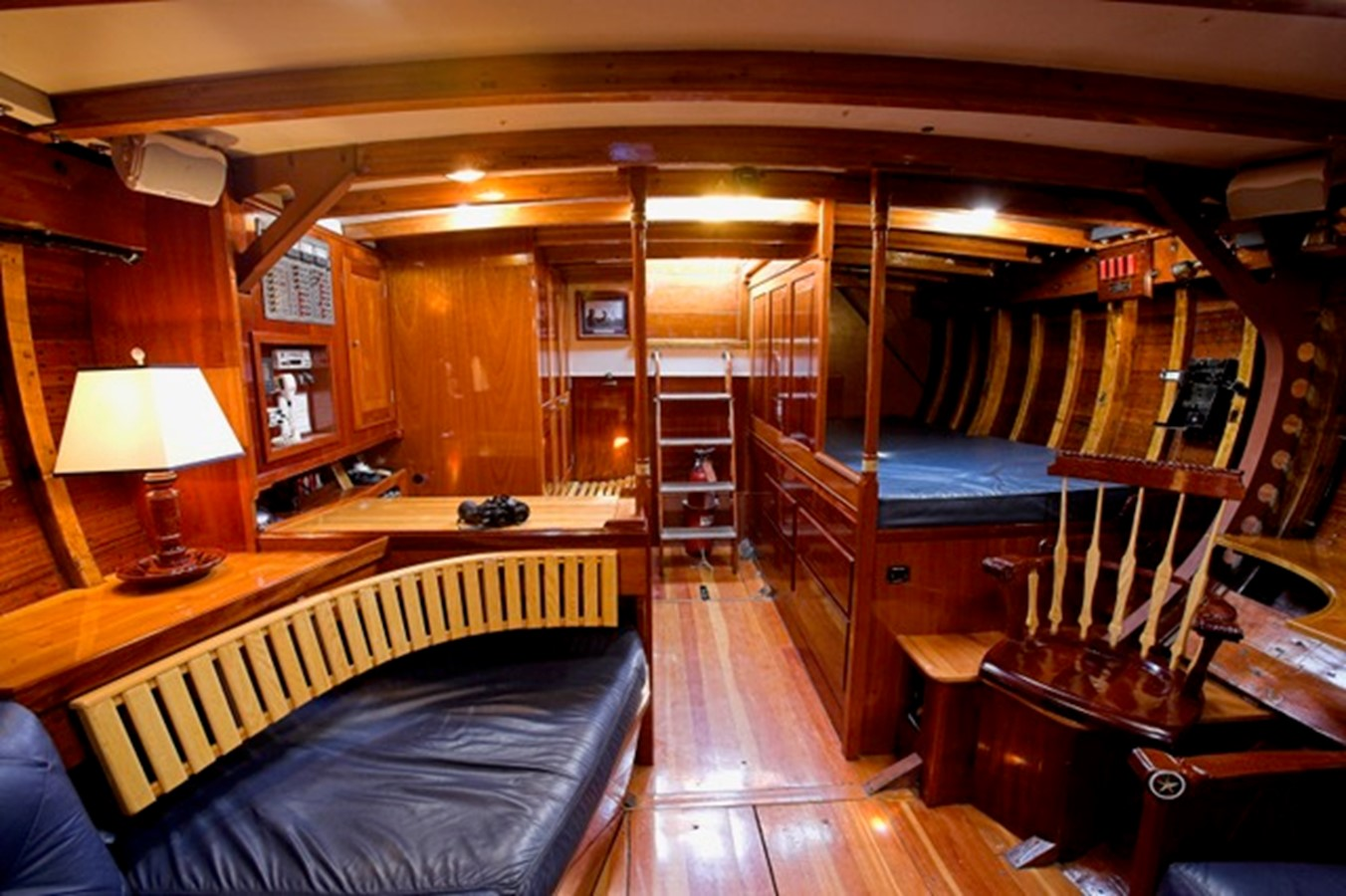 Fully Appointed Classic Interior - Looking Aft 1958 LUDERS 12 Metre - Traditional Classic Yacht 1898248