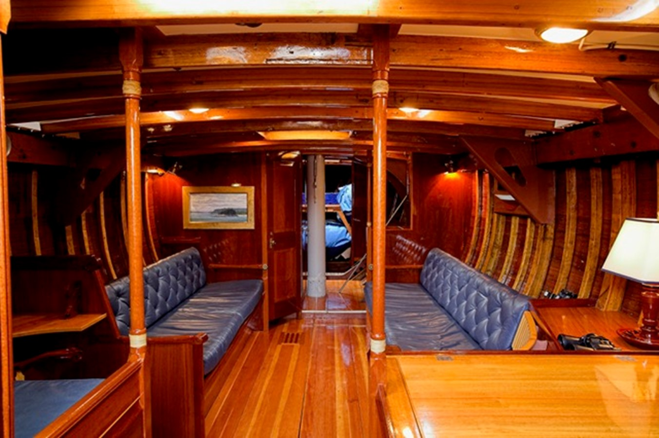 Fully Appointed Classic Interior - Looking Forward 1958 LUDERS 12 Metre - Traditional Classic Yacht 1898251