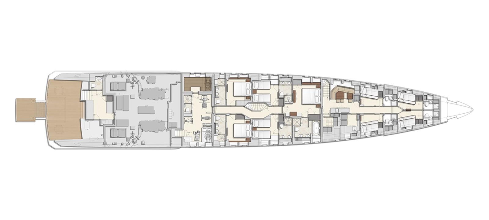 GA Lower deck 2020 HEESEN YACHTS  Motor Yacht 2530879