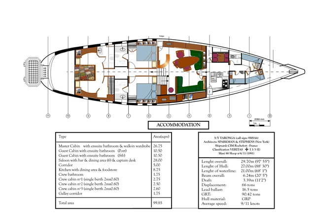 Maxi 88 Taronga GA 1991 CIM SHIPYARD  Cruising Sailboat 1966570