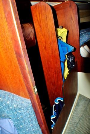 Hanging locker area 1977 CALGAN MARINE  Aft Cockpit 1975165