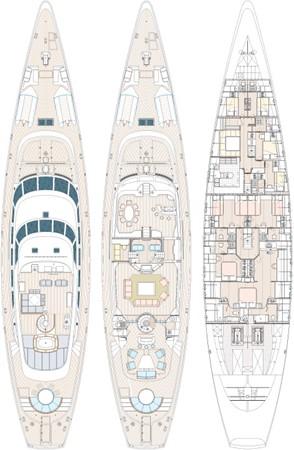 General Arrangement Plan    1991 PERINI NAVI Ketch Cruising Ketch 1994038
