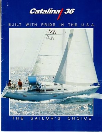 1993 Brochure w This Boat 1993 CATALINA 36 Cruising Sailboat 2038714