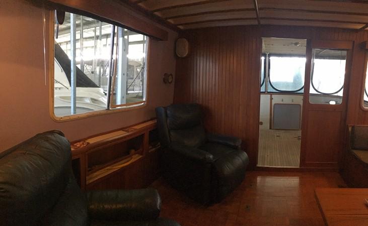 1988 Krogen 36 13 Interior Salon Starboard View 1988 KADEY KROGEN 36 Manatee Tender 2062750