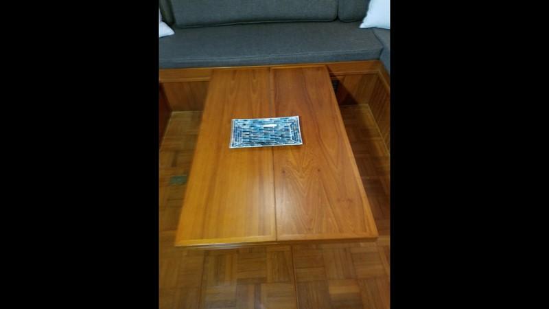 1988 Krogen 36 15 Salon drop leaf table 1988 KADEY KROGEN 36 Manatee Tender 2062755