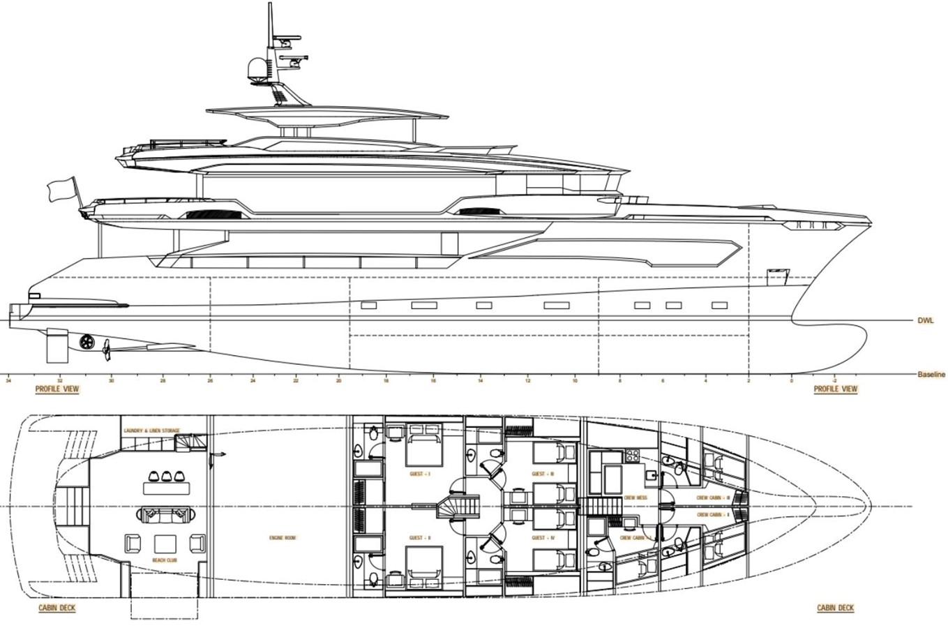GA 1 Version 1 2022 AVA YACHTS Kando 130 Motor Yacht 2091091