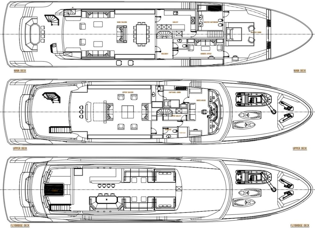 GA 2 Version 1 2022 AVA YACHTS Kando 130 Motor Yacht 2091092