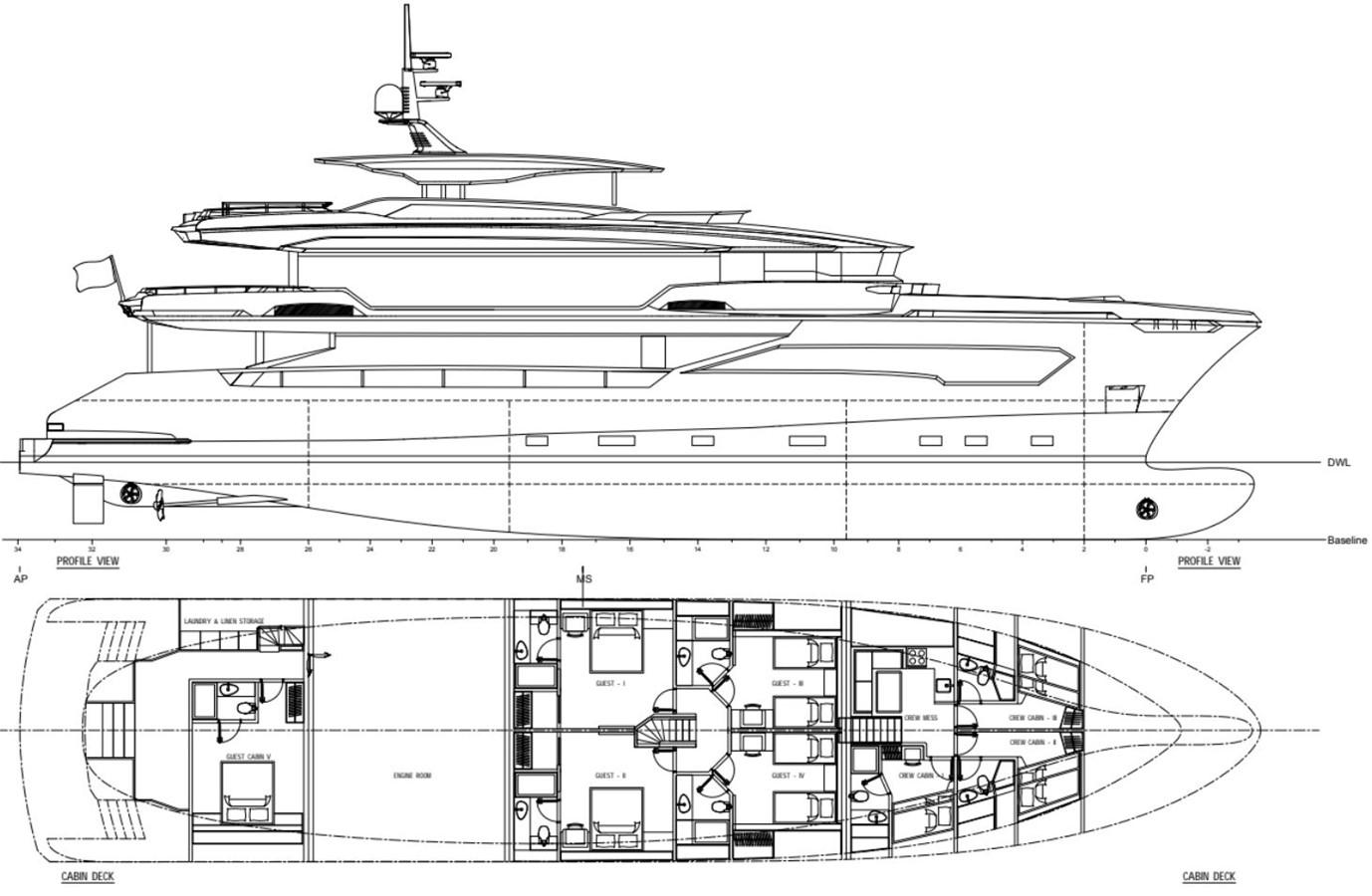 GA 1 Version 2 2022 AVA YACHTS Kando 130 Motor Yacht 2091093