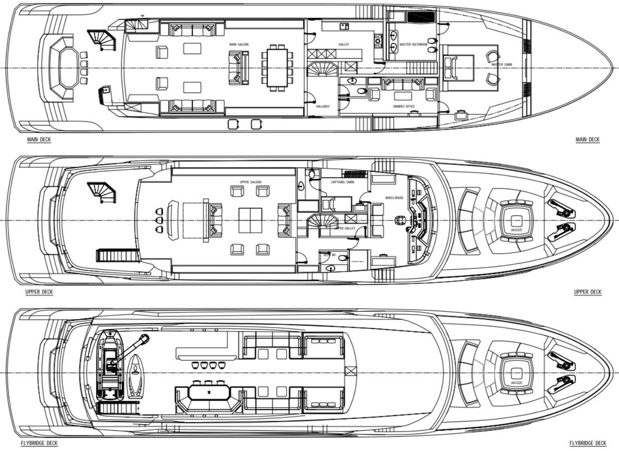 GA 2 Version 2 2022 AVA YACHTS Kando 130 Motor Yacht 2091094