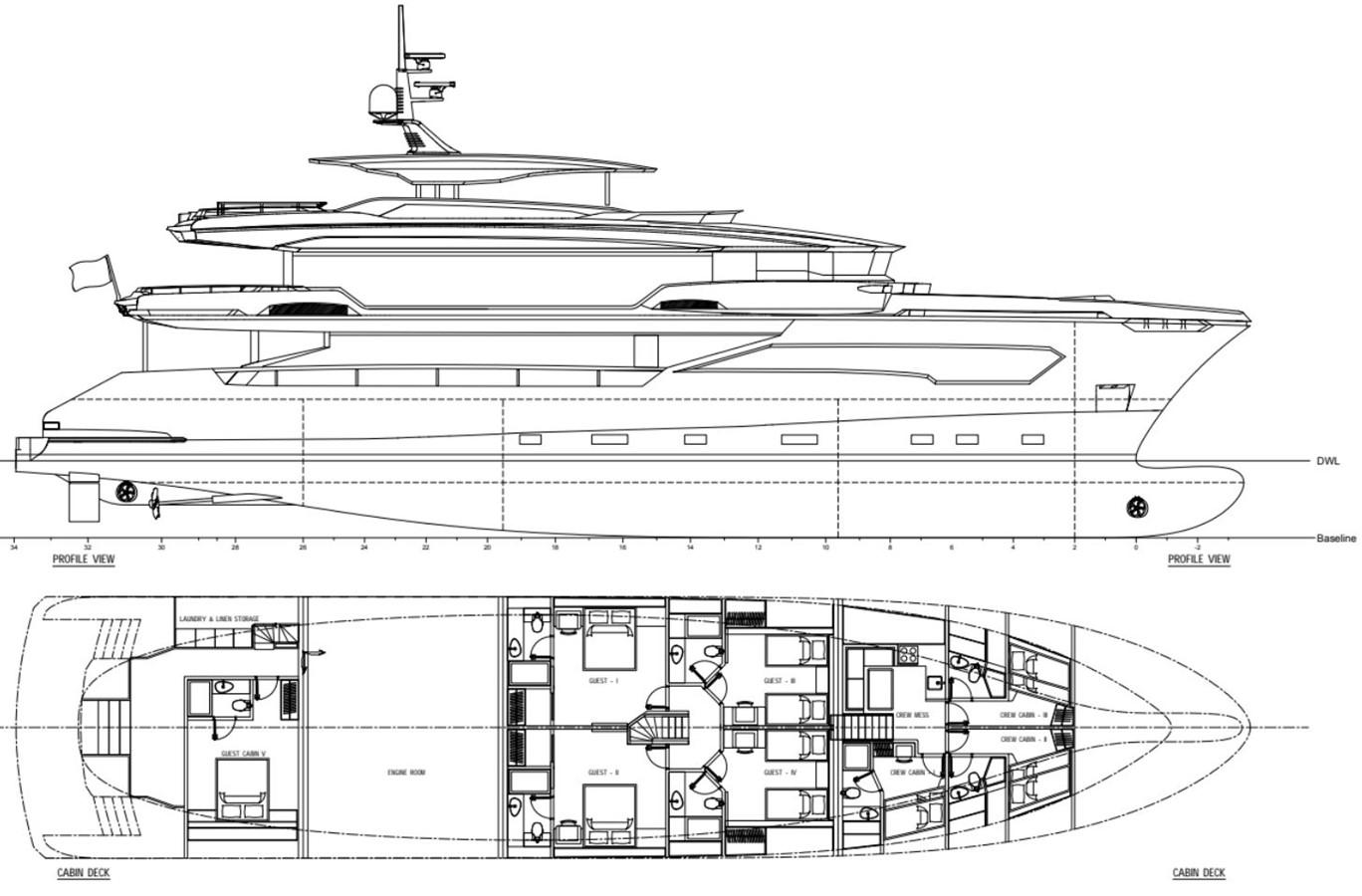 GA 1 Version 3 2022 AVA YACHTS Kando 130 Motor Yacht 2091095