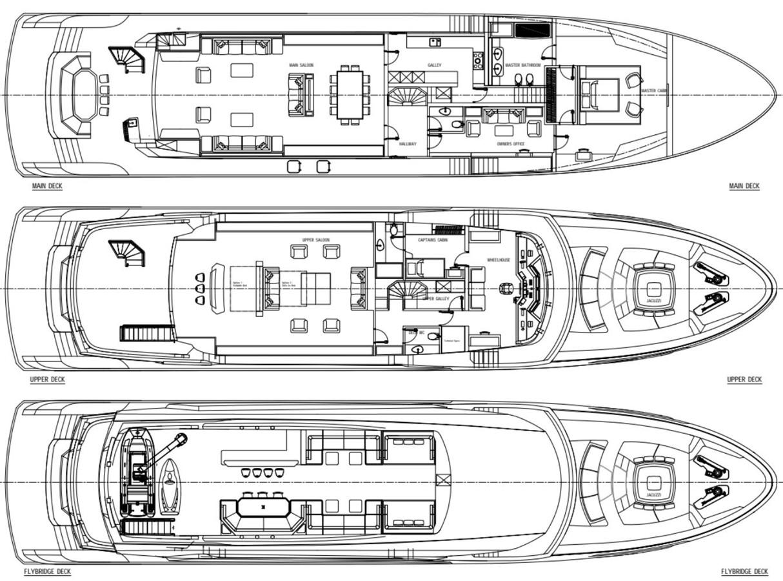 GA 2 Version 3 2022 AVA YACHTS Kando 130 Motor Yacht 2091096