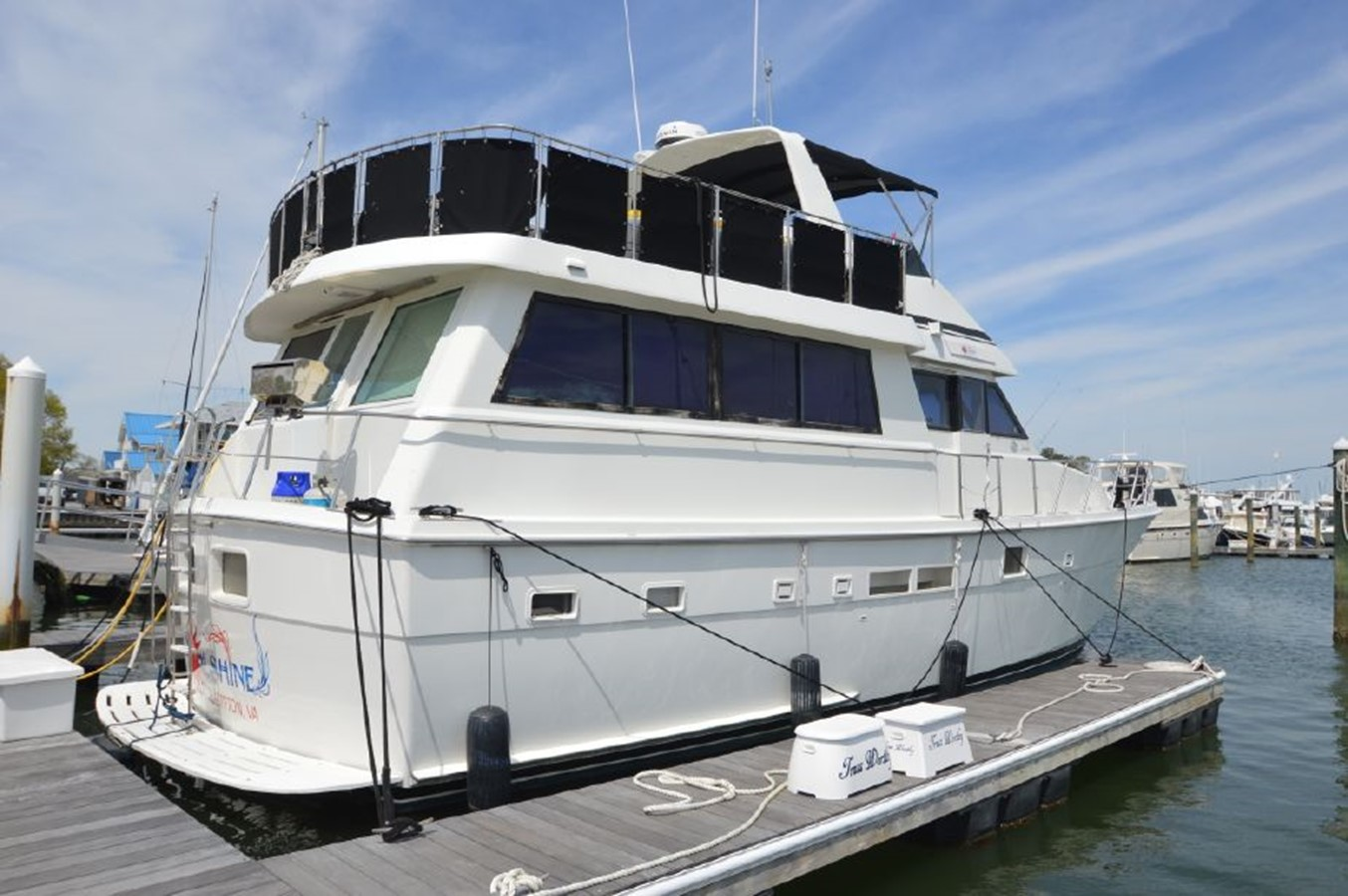Stbd Side - 54 HATTERAS For Sale