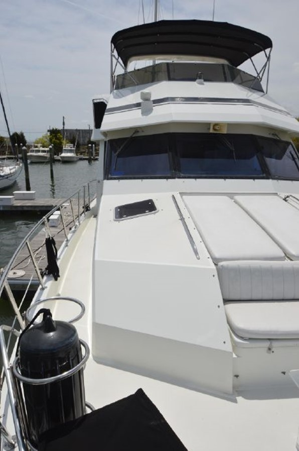 Stbd Foredeck - 54 HATTERAS For Sale