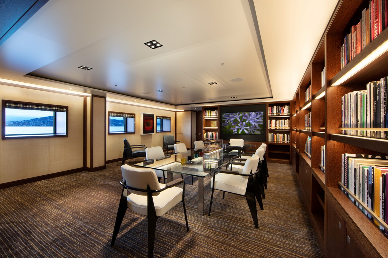 Private Dining or Board Room Adjacent Second Master  2018 ADMIRAL Long Range Motor Yacht Motor Yacht 2172549