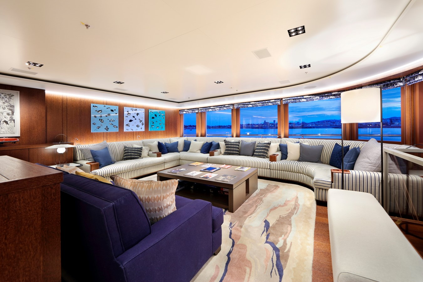 Owner's Observation Salon to Port  2018 ADMIRAL Long Range Motor Yacht Motor Yacht 2172568