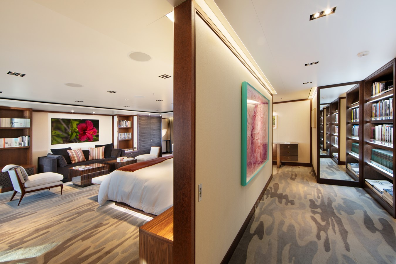 Looking Aft to Port into Owners Stateroom 2018 ADMIRAL Long Range Motor Yacht Motor Yacht 2172582