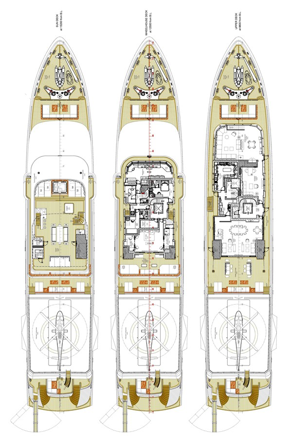 General Arrangement Plan 2018 ADMIRAL Long Range Motor Yacht Motor Yacht 2172599