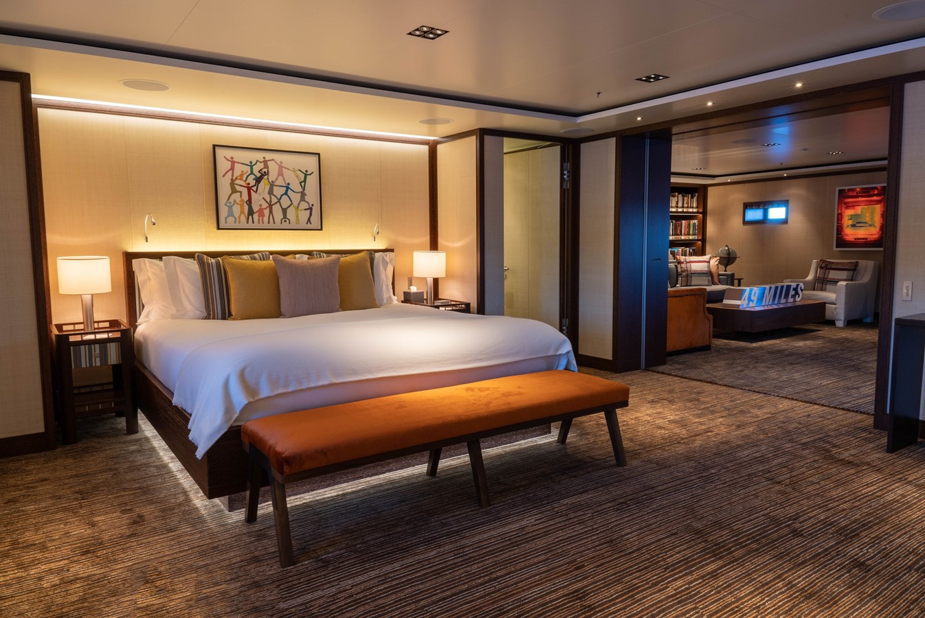 Second Master Stateroom and Lounge 2018 ADMIRAL Long Range Motor Yacht Motor Yacht 2339227