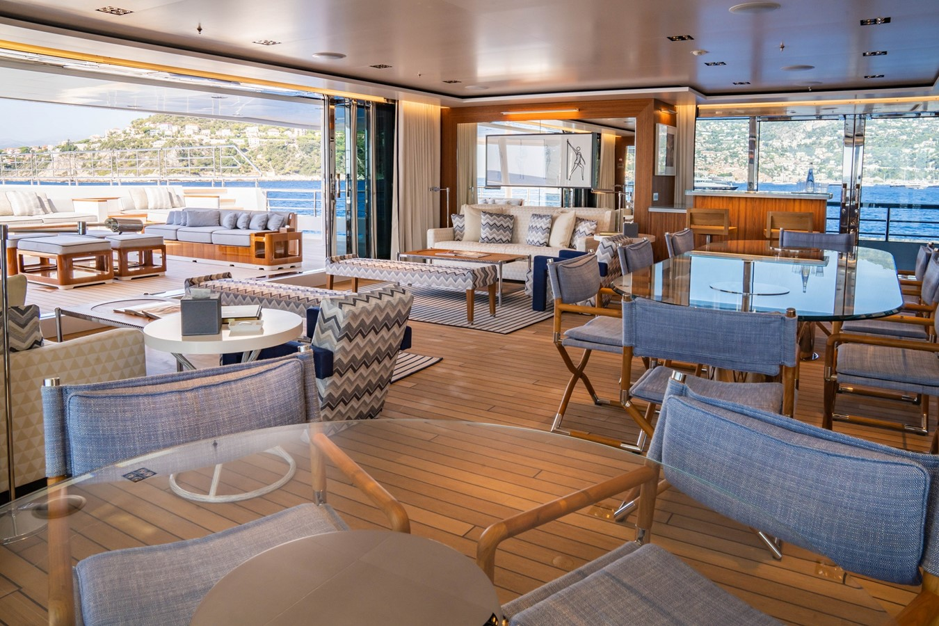 Inside Outside Lounge Looking Aft  2018 ADMIRAL Long Range Motor Yacht Motor Yacht 2339231