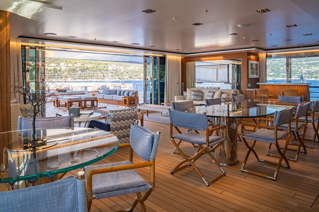 Inside Outside Lounge Looking Aft  2018 ADMIRAL Long Range Motor Yacht Motor Yacht 2339232