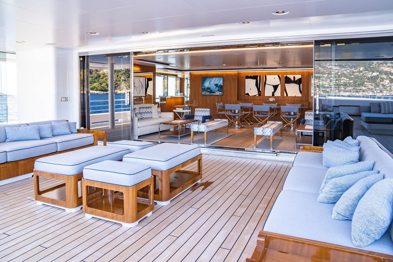 Inside Outside Salon and Outside Decks 2018 ADMIRAL Long Range Motor Yacht Motor Yacht 2339237