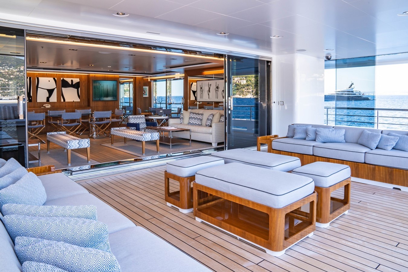 Inside Outside Salon and Outside Decks 2018 ADMIRAL Long Range Motor Yacht Motor Yacht 2339238