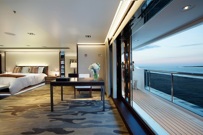 Master Stateroom Opens to Outside Deck  2018 ADMIRAL Long Range Motor Yacht Motor Yacht 2172547