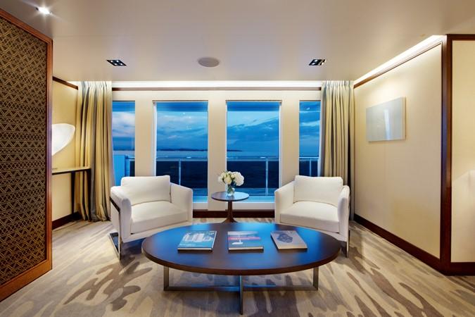 Sitting Area in Master Stateroom  2018 ADMIRAL Long Range Motor Yacht Motor Yacht 2172563