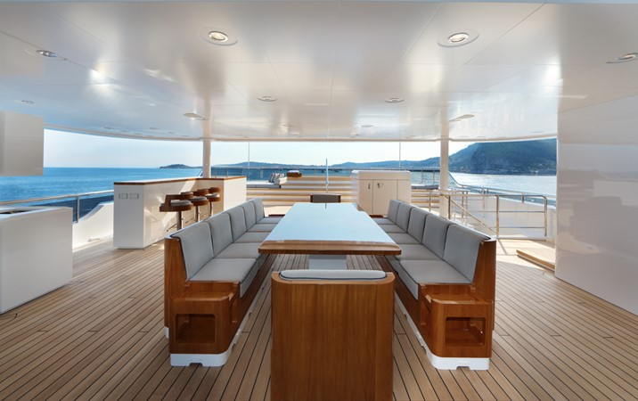 Sun Deck Dining 2018 ADMIRAL Long Range Motor Yacht Motor Yacht 2172576