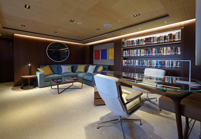 Internet Lounge and Guest Office Aft of Observation Salon 2018 ADMIRAL Long Range Motor Yacht Motor Yacht 2172577