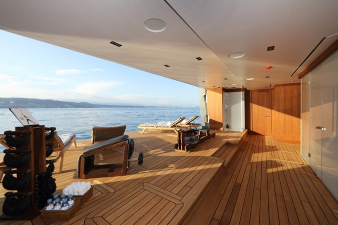 Starboard Side Beach Club with Sauna and Steam Room 2018 ADMIRAL Long Range Motor Yacht Motor Yacht 2172581
