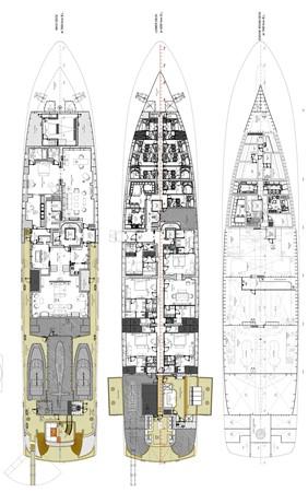 General Arrangement Plan 2018 ADMIRAL Long Range Motor Yacht Motor Yacht 2172590