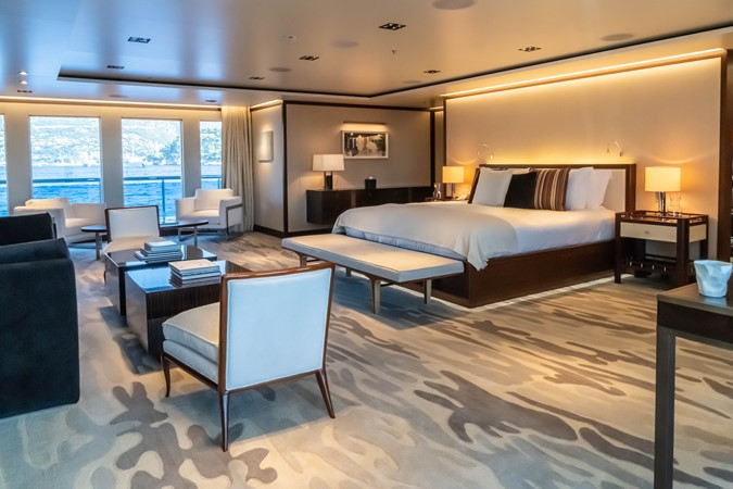 Master Stateroom to Port with Lovely Windows 2018 ADMIRAL Long Range Motor Yacht Motor Yacht 2339225